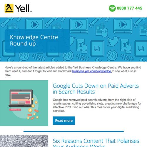 Screenshot of Newsletter Email