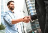 Image of businessmen shaking hands