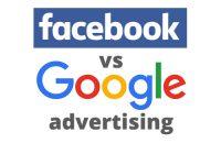 Facebook versus Google advertising