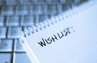 Image of a wish list