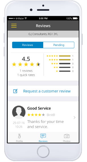 Yell for Business app - Reviews screenshot