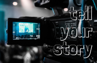 Camera filming a video